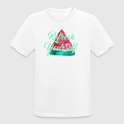 "Watermelon ""Refresh Yourself"" - Men's Breathable T-Shirt"