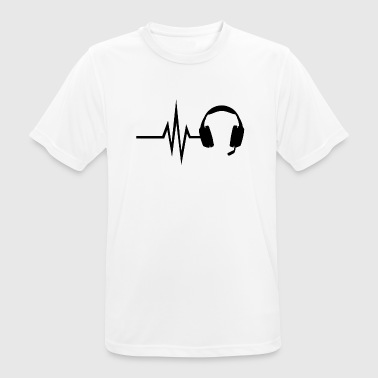 My heart beats for gaming - multiplayer esport - Men's Breathable T-Shirt