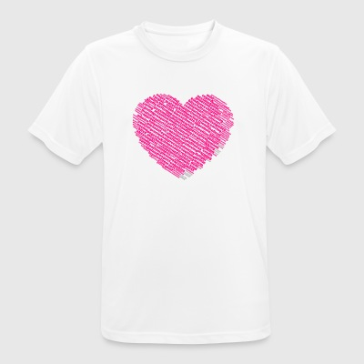 Heart shape of loving, warm and nice words cloud - Men's Breathable T-Shirt