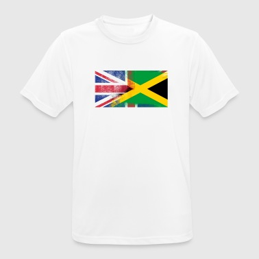 British Jamaican Half Jamaica Half UK Flag - Men's Breathable T-Shirt