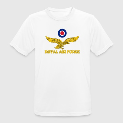 Royal Air Force roundel et aigle or - T-shirt respirant Homme