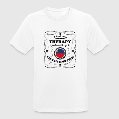 DON T therapie nodig GO LIECHTENSTEIN - mannen T-shirt ademend