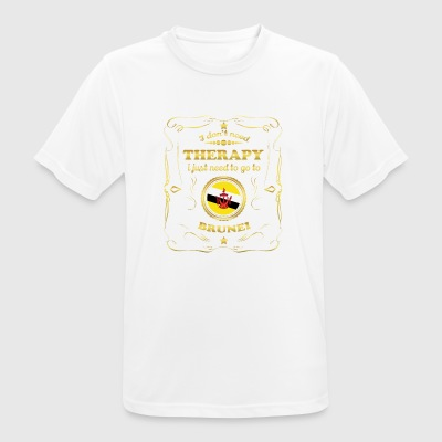 DON T NEED THERAPY GO TO BRUNEI - Men's Breathable T-Shirt