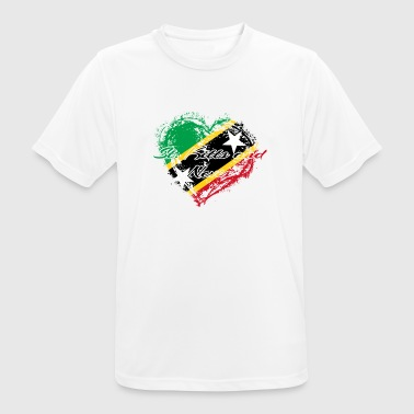 HOME ROOTS COUNTRY GIFT LOVE Saint Kitts and Nevis - Men's Breathable T-Shirt