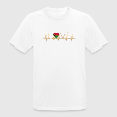 home roots home love heart from Vanuatu - Men's Breathable T-Shirt