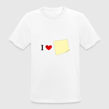 I love sticky notes, I love sticking out - Men's Breathable T-Shirt