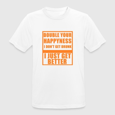 Lucky drunk happy alcohol gift - Men's Breathable T-Shirt