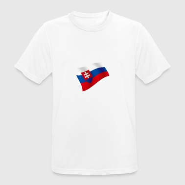 Slovakia flag flag of Bratislava country colors - Men's Breathable T-Shirt
