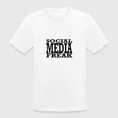 social media freak - Men's Breathable T-Shirt