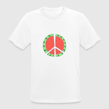 Watermelon peace - Men's Breathable T-Shirt