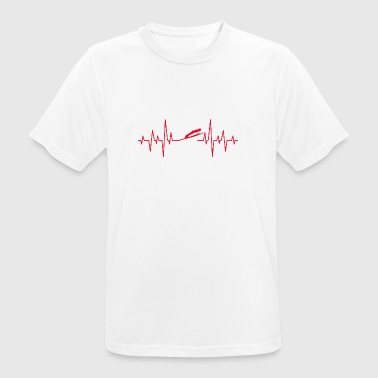 Skihop Ski Flying Schanze gave EKG Heart - Herre T-shirt svedtransporterende
