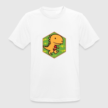 orange dinosaur - Men's Breathable T-Shirt