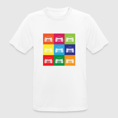 Multi Color Impreza - Andningsaktiv T-shirt herr