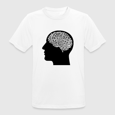 Male head (thoughts) - Men's Breathable T-Shirt