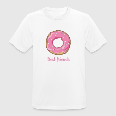 Donut favorite food sweet snack pink sugar lo - Men's Breathable T-Shirt
