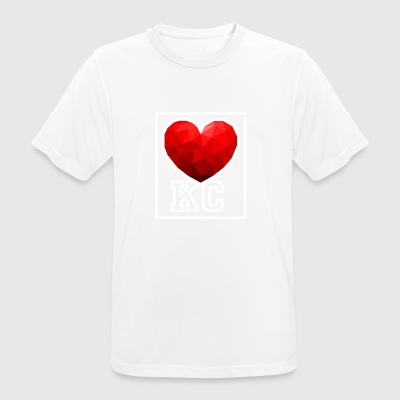 Kansas City Heart - Andningsaktiv T-shirt herr