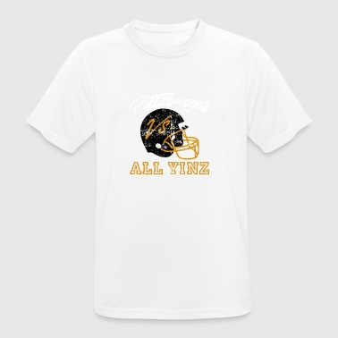 Pittsburgh Vs All Yinz Distressed - Men's Breathable T-Shirt