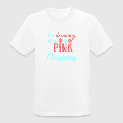 in the dreaming of a pink christmas - Men's Breathable T-Shirt