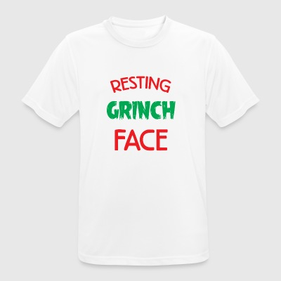 Resting Grinch Face Christmas Xmas Gift - Men's Breathable T-Shirt