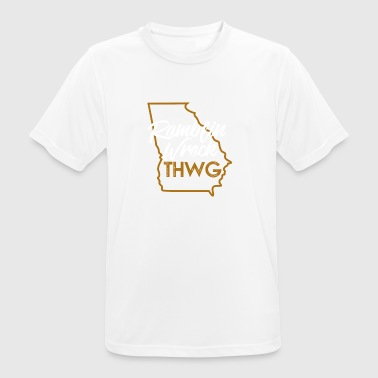 Ramblin Wreck THWG Game Day Football Outline - Men's Breathable T-Shirt
