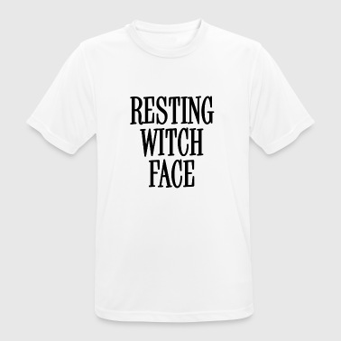 Resting Witch Face Black - Men's Breathable T-Shirt