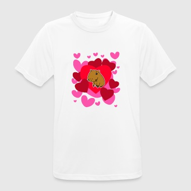 Capybara Love T-Shirt - Cute Valentines Romantic - Men's Breathable T-Shirt