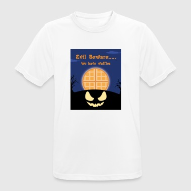 EVIL BEWARE WE HAVE WAFFLES - Men's Breathable T-Shirt
