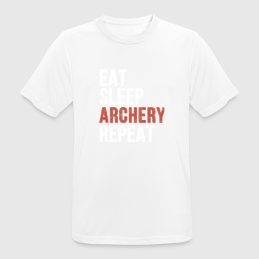Eat sleep Archery Repeat - Funny Gift - Männer T-Shirt atmungsaktiv
