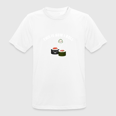 sushi roll roll chopsticks eat favorite food - Men's Breathable T-Shirt