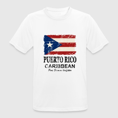 Puerto Rico Flag - Vintage Look - Men's Breathable T-Shirt
