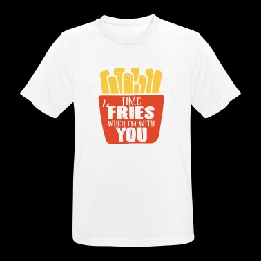 Time Fries when i'm with you - Men's Breathable T-Shirt