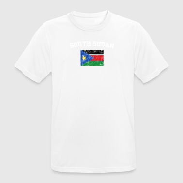 South Sudan Flag Shirt - Vintage South Sudan T-Shi - Men's Breathable T-Shirt