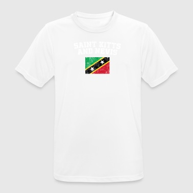 Kittian Flag Shirt - Vintage Saint Kitts and Nevis - Men's Breathable T-Shirt