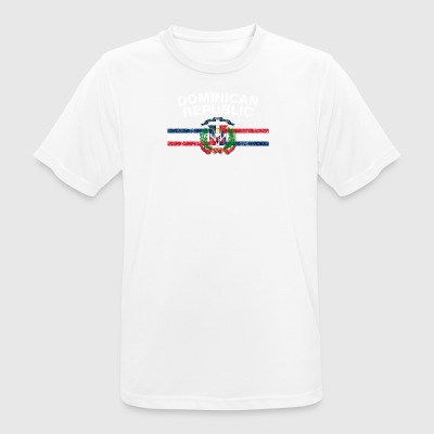 Drapeau dominicain T-shirt - Dominicaine Badges & Dominique - T-shirt respirant Homme