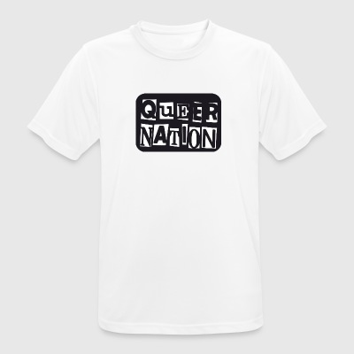 Queer Nation - mannen T-shirt ademend