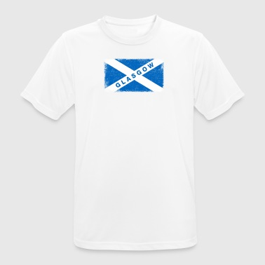 Glasgow Shirt Vintage Scotland Flag T-Shirt - Men's Breathable T-Shirt