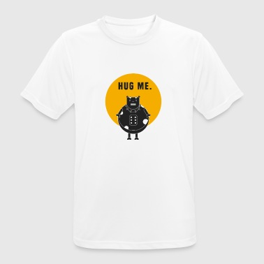 Cow Rock / Say: hug me - Men's Breathable T-Shirt