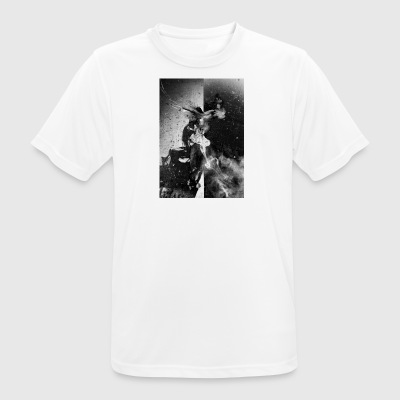 Black and White Raven - Andningsaktiv T-shirt herr