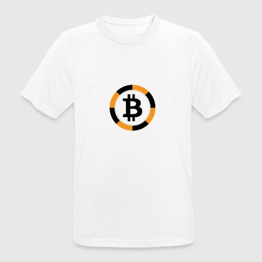 Bitcoin Poker Chip - Men's Breathable T-Shirt
