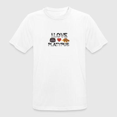 I love platypus - Men's Breathable T-Shirt