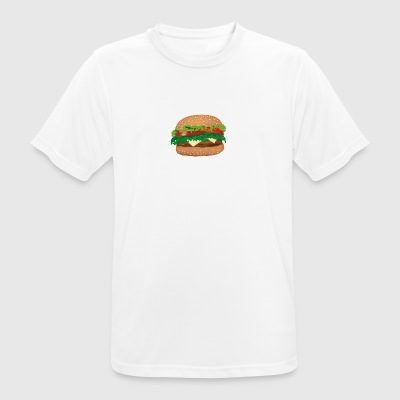 Stuffed sandwich cheese, tomato, salad - Men's Breathable T-Shirt