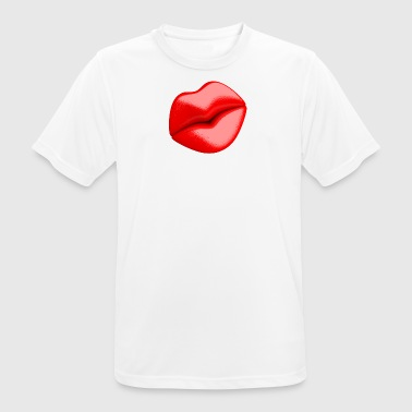 Red lips - Men's Breathable T-Shirt