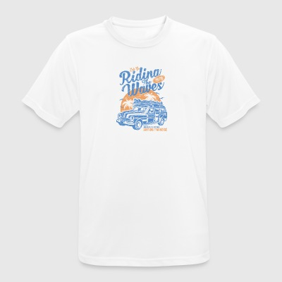 Riding The Waves - Men's Breathable T-Shirt