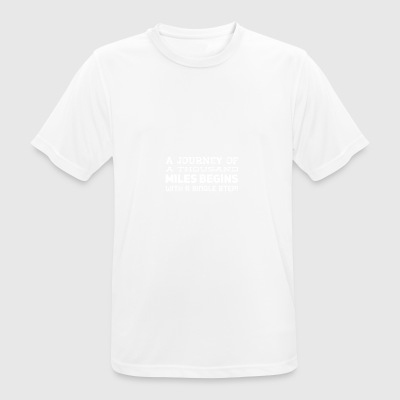 A journey begins white - Men's Breathable T-Shirt
