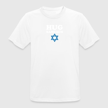 Hug sameach Hebrew for Happy holidy - T-shirt respirant Homme