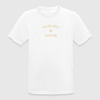 Mascara and coffee beautician cosmetics gift - Men's Breathable T-Shirt