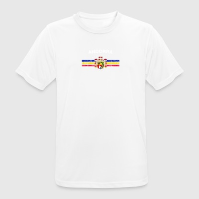 Andorran Flag Shirt - Andorran Emblem And Andorra Fl - Men's Breathable T-Shirt