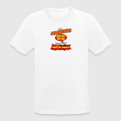Superhero gift grappig Beroep Marketing Manager - mannen T-shirt ademend