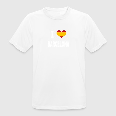 I Love Spain BARCELONA - Men's Breathable T-Shirt