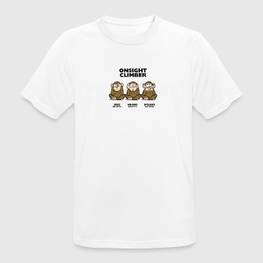 On Sight climber - three wise monkeys - Männer T-Shirt atmungsaktiv